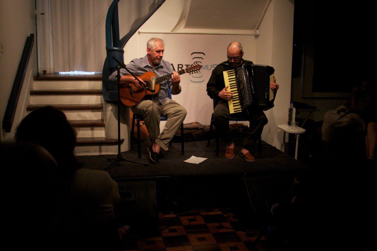 Duo de viola e acordeon com Rafael De Boni e Val | Foto: Igor Sperotto