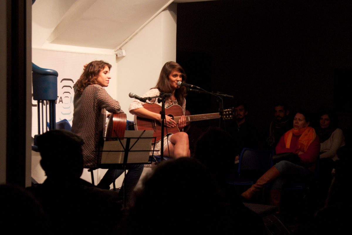 Carina Levitan e Carmen Correa em Tricotando o som | Foto:Igor Sperotto