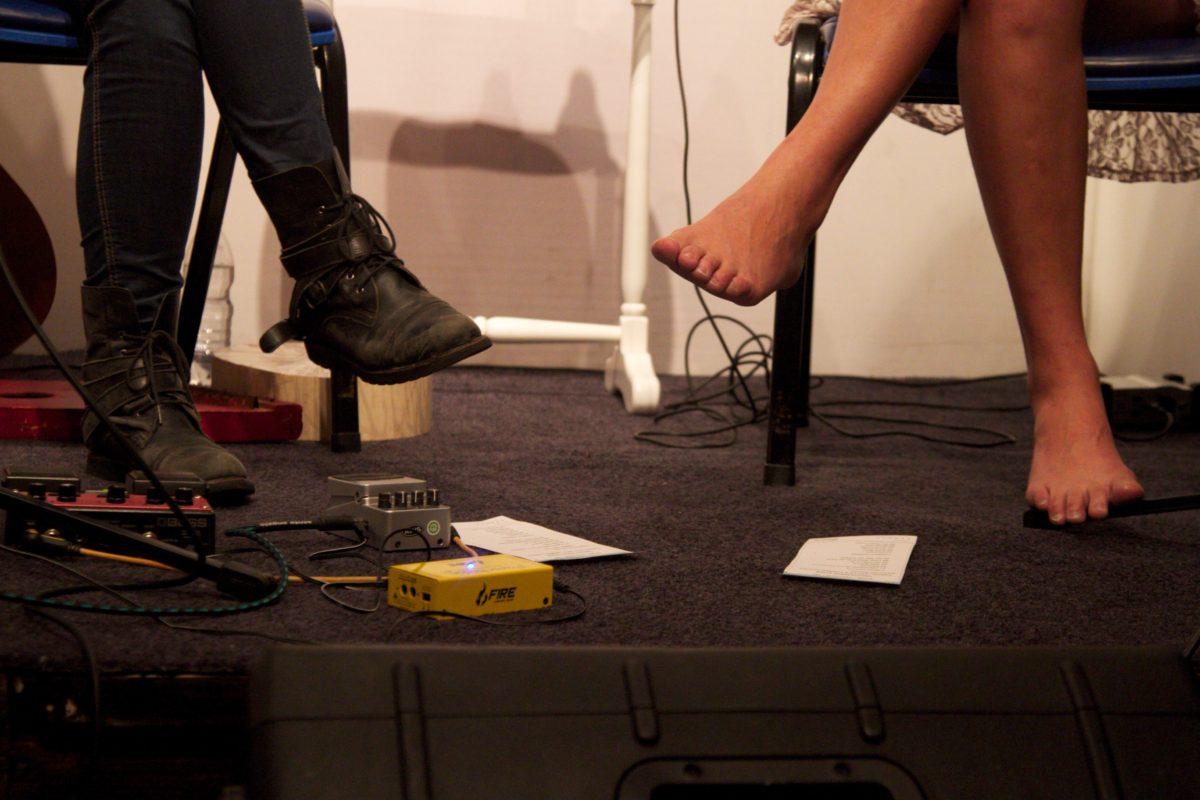 Carina Levitan e Carmen Correa em Tricotando o som   Foto:Igor Sperotto