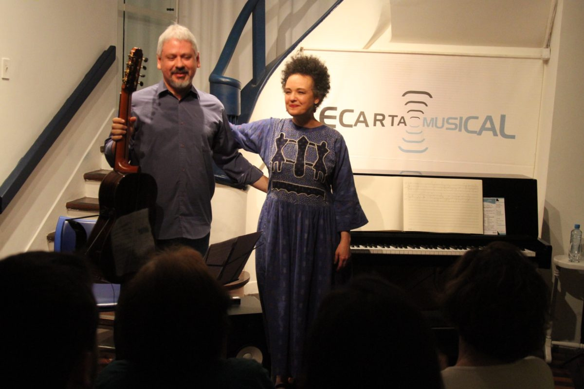 Recital de Catarina Domenici e James Correa    Foto: Igor Sperotto