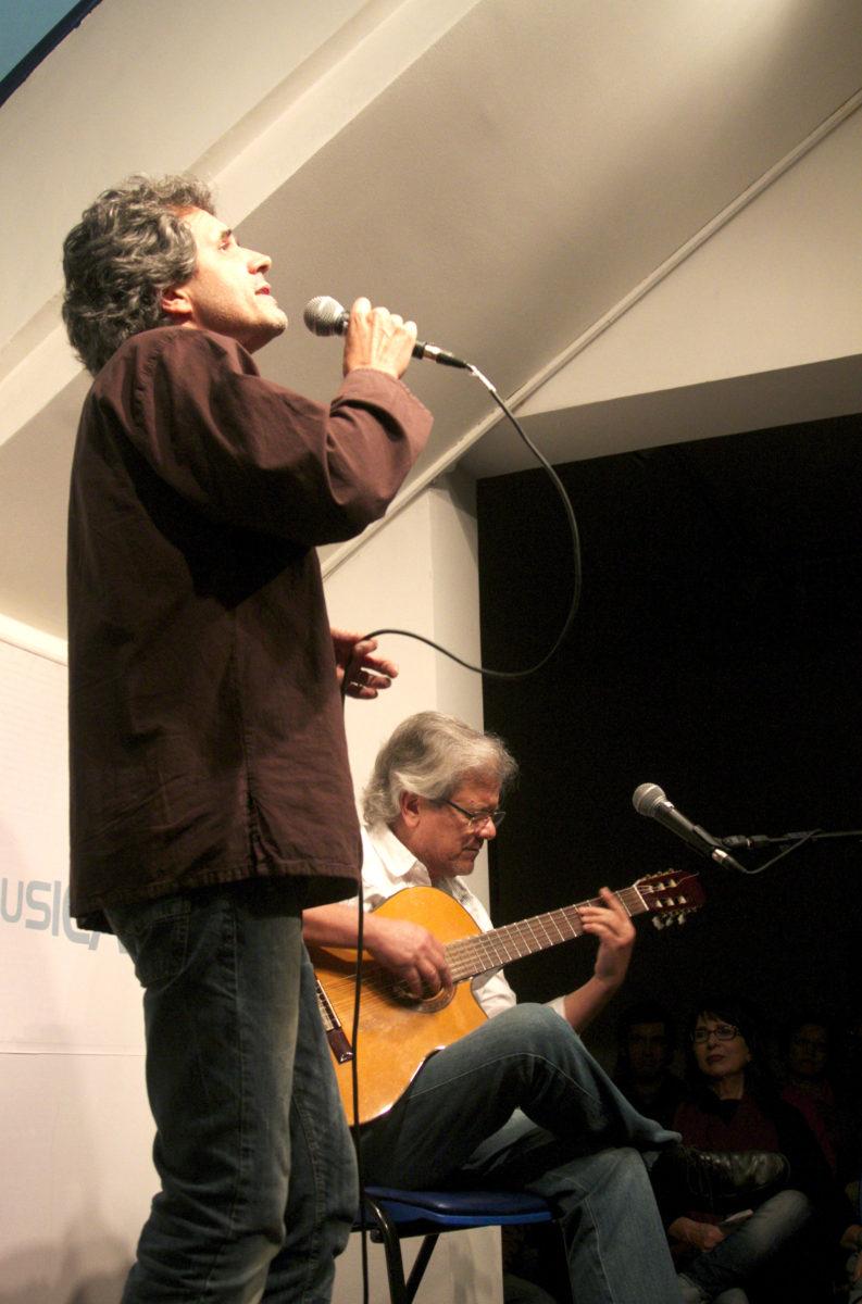 Dudu Sperb e Toneco da Costa no show Mano a Mano | Foto: Igor Sperotto