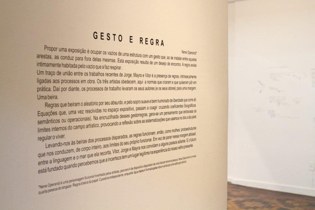 Gesto e Regra   Foto: Igor Sperotto