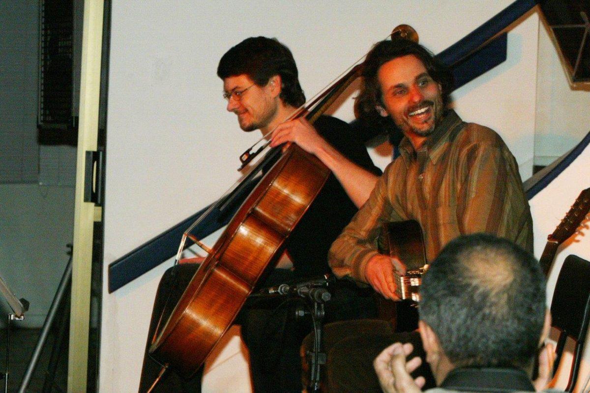 Marcus Bonilla e Pedro Huff no show Caminhante do Céu Vermelho | Fotos: Rene Cabrales