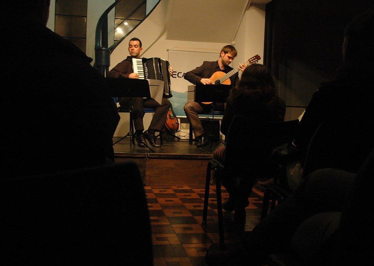 Daniel Castilhos e Lucas Volpatto em Conversa com acordeon e violão | Fotos:Igor Sperotto