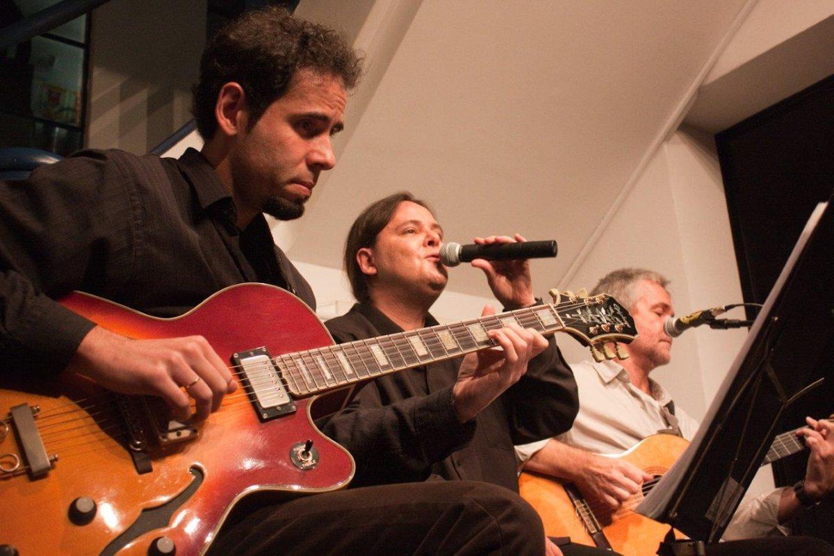 Márcio Celi e Roberto Haag em De Bossa em Samba | Foto: Rene Cabrales