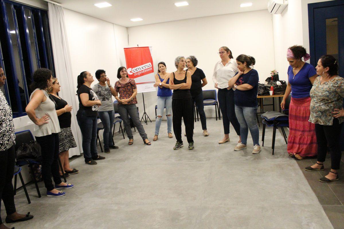 Conversa de Professor POA com Deborah Finocchiaro | Foto: Glaci Borges