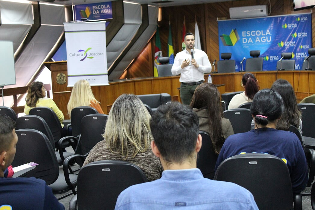 Cultura Doadora na AGU – Enfermeiro Dagoberto Rocha | Foto: Glaci Borges