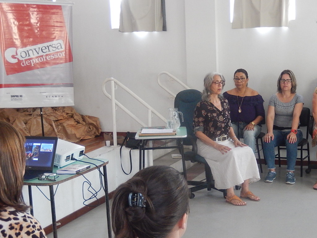 Conversa de Professor em Canoas sobre a Primeirissima infância. ministrada por Ângela Coronel da Rosa | Foto: Glaci Borges