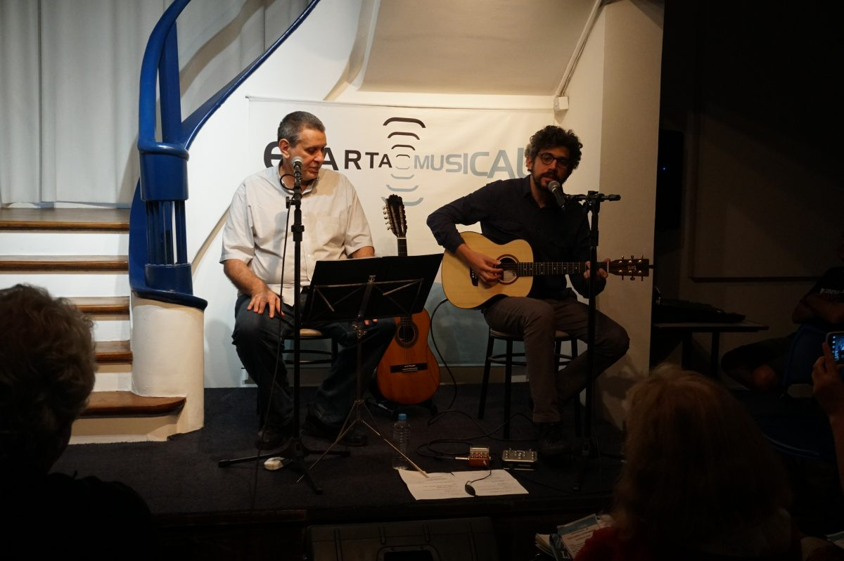 Paulo Nunes e Victor Mendes apresentam A letra e a voz | Foto: Igor Sperotto
