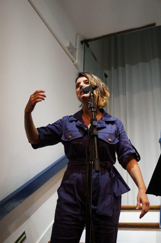 Vanessa Longoni e Leo Bittencourt em Tudo tinha Ruído | Foto: Igor Sperotto