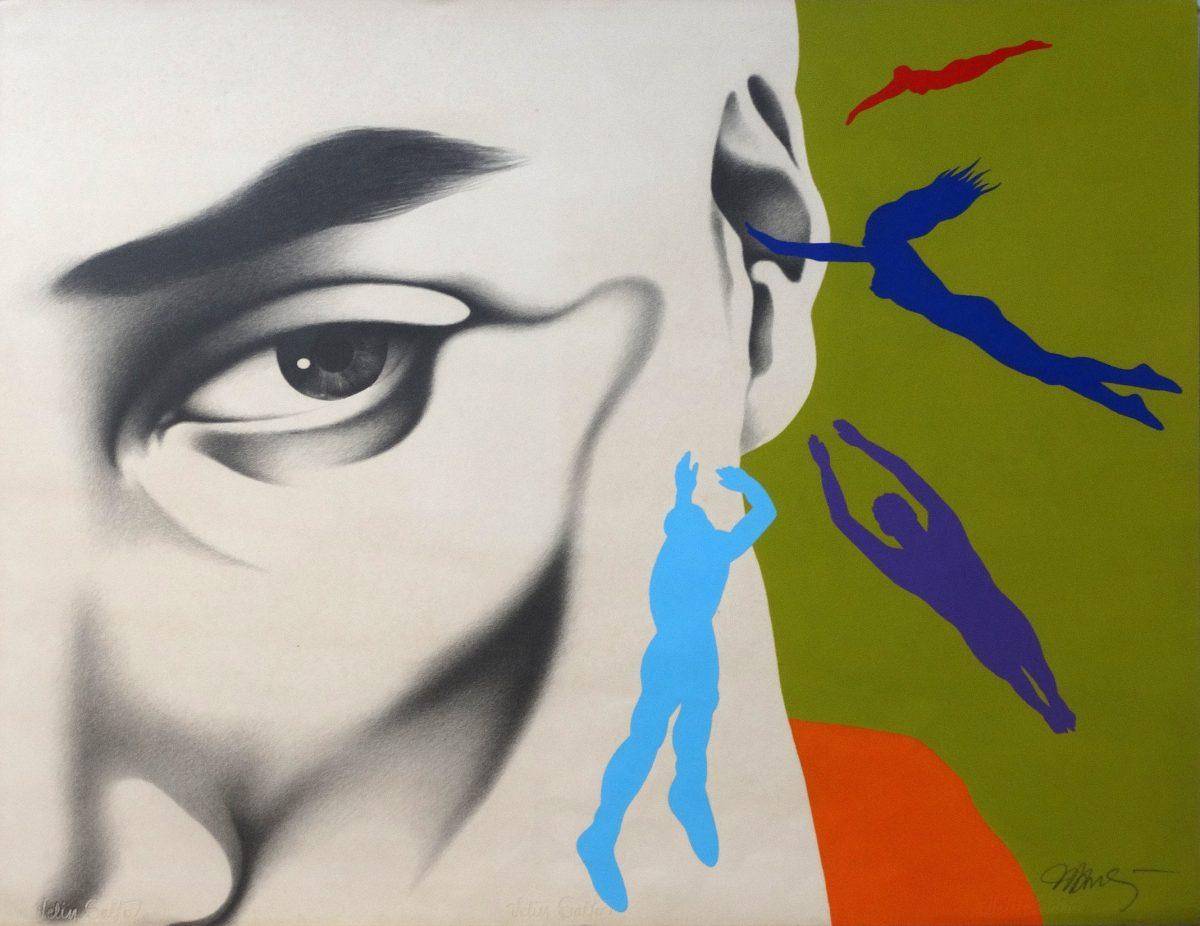 Cada cabeça uma sentença, técnica mista, 1989, grafite e acrílica sobre papel, 70 X 90 CM | Foto: Cassio Maffazzioli