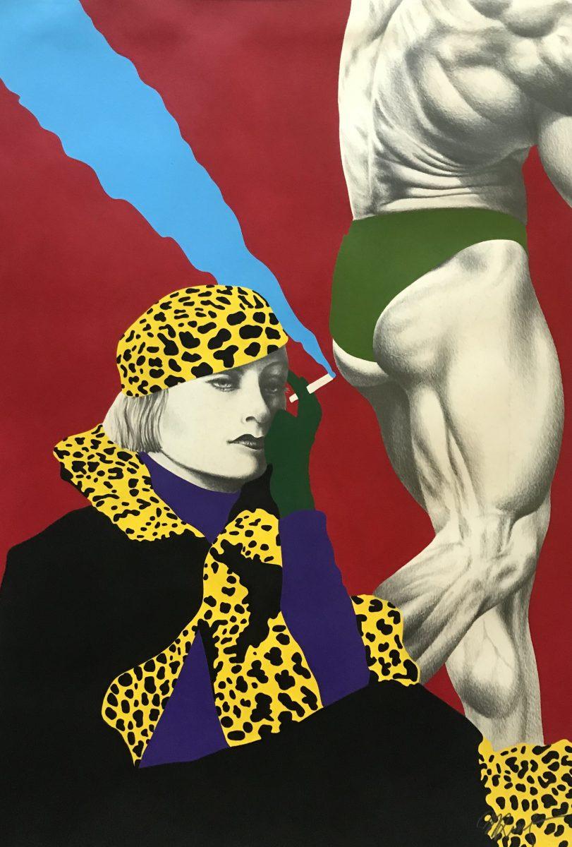 Mulher onça, 1984, técnica mista, grafite e tinta acrílica sobre papel | Foto: Cassio Maffazzioli