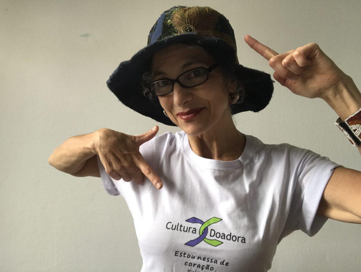 Deborah Finocchiaro, atriz, parceira do Cultura Doadora. | Foto: Arquivo Pessoal