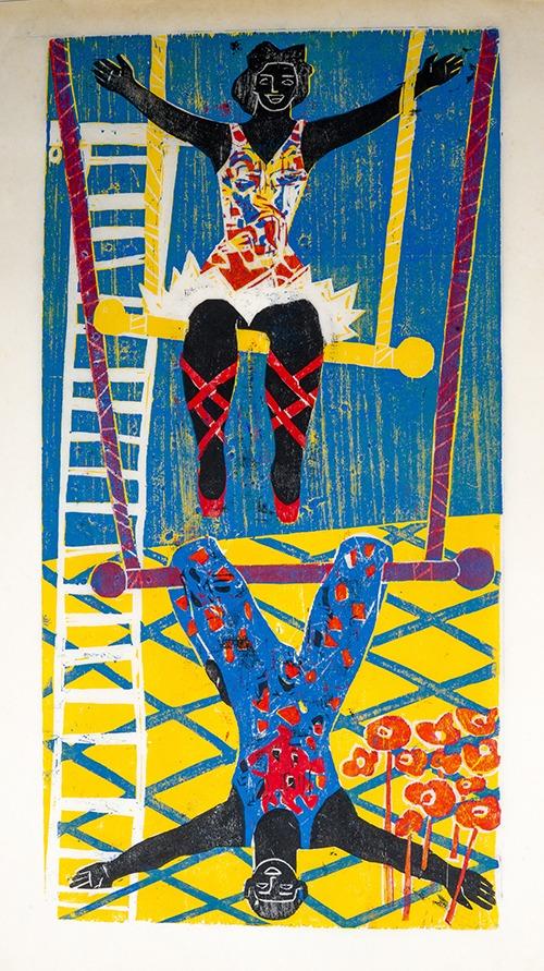 Zoravia Bettiol, A moça do trapézio, Série Circo | Artista: Zoravia Bertiol